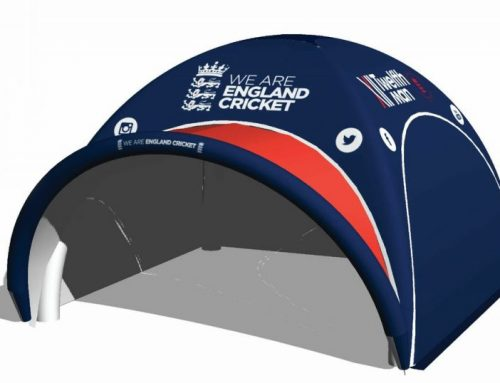 Striking Inflatable Event Tent Supplied to England Cricket