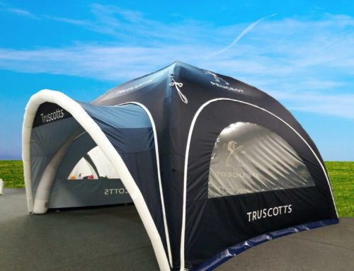 Truscotts Peugeot choose Axion Square Inflatable Event Tent