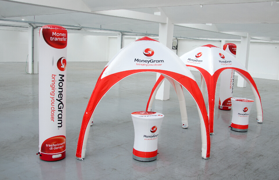 Two 3m x 3m AXION Lite Inflatable Event Tents for MoneyGram