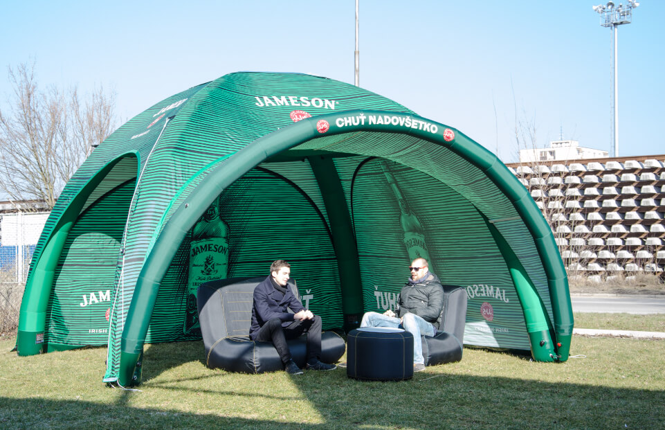 AXION Square Inflatable Event Tent for Jameson