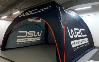 Hospitality Tent for the WRC - Axion Square 77 Inflatable Event Tents