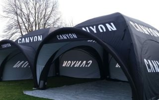 Canyon Bikes Event Tents for all weather hospitality use - Axion UK