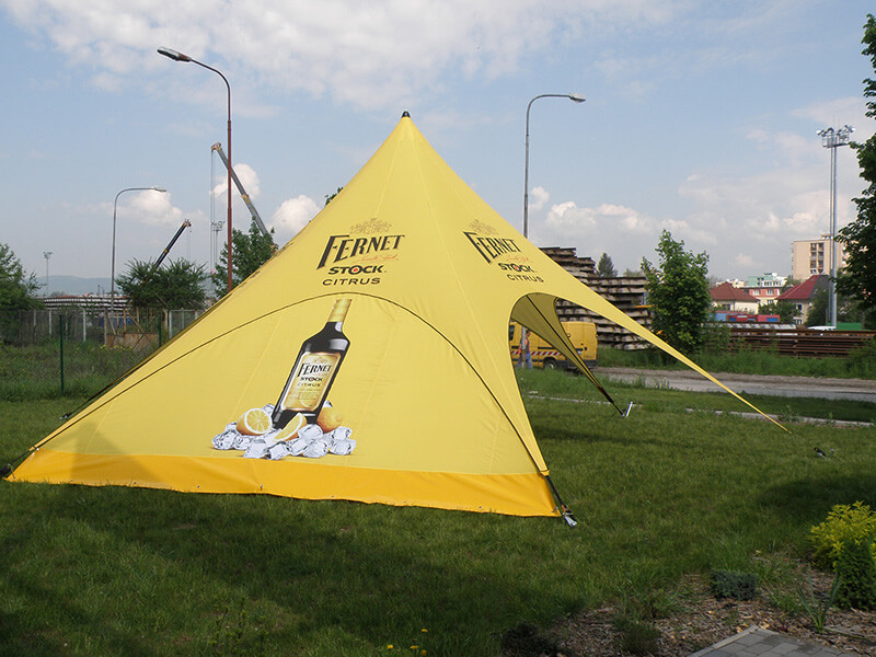 Tipi Event Tent - Fully Branded for client