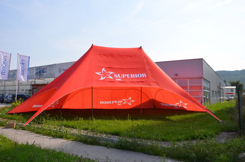 Tipi Event Tent - 15m dual pole tipi tent for Superior