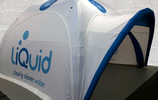 4mx 4m Axion Square Inflatable Event Tent for liQuid.