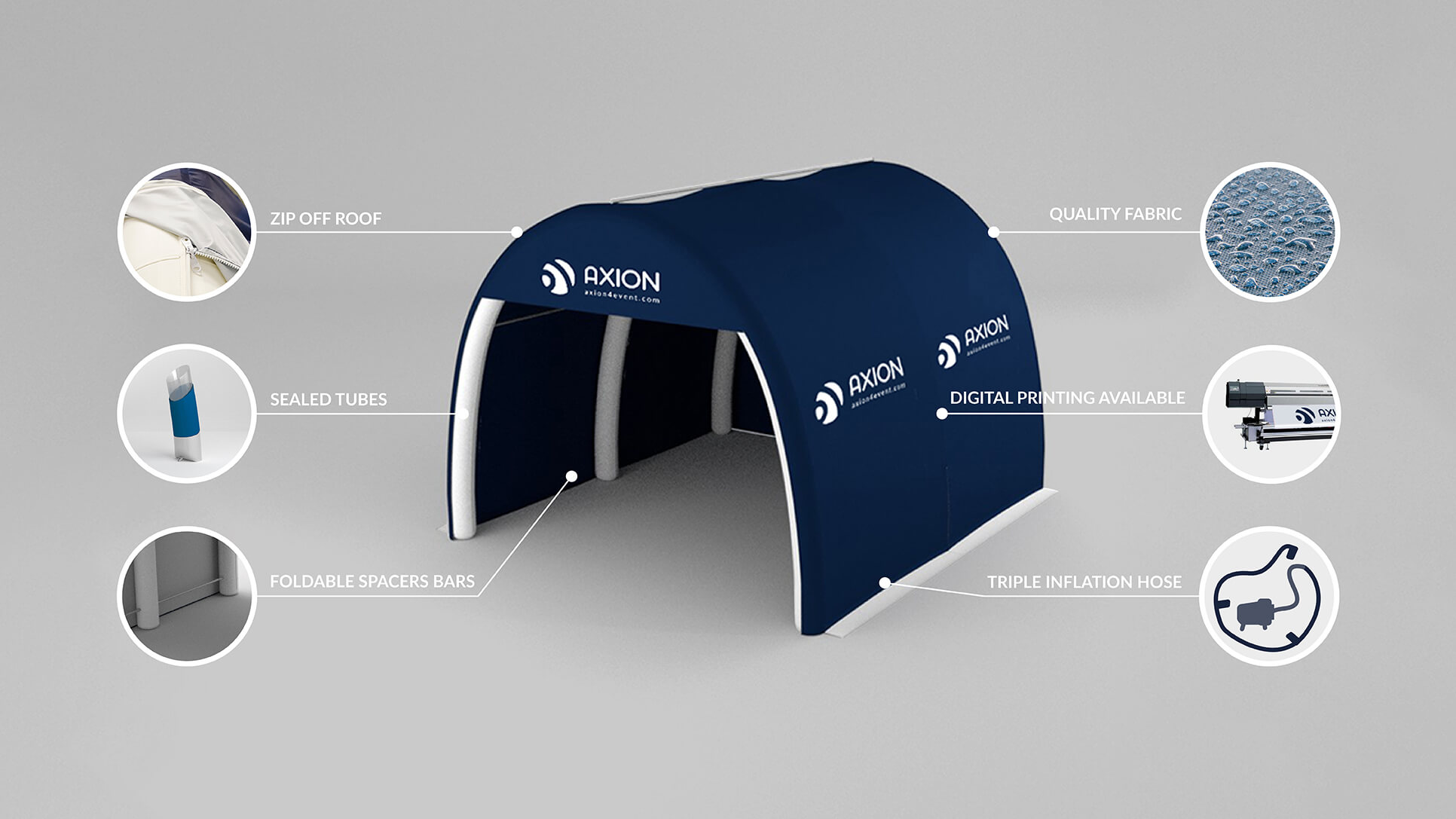 AXION Pod inflatable tent - tunnel shaped inflatable tent