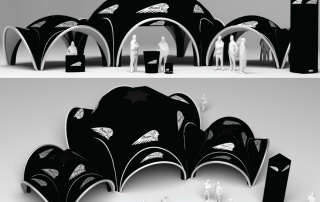 Linked Inflatable Event Tents for Indian Motorcycles giving up to 175m2 of covered event space