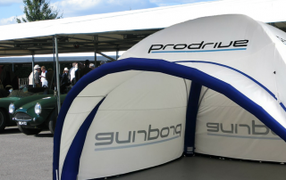 Large Axion 55 Square Inflatable Event Tent for Prodrive at the Goodwood Festival of Speed