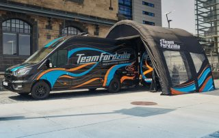 Team Fordzilla Choose Axion Pod inflatable event tent